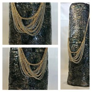 Bold Elements Strand Necklace Gold & Silver Tone